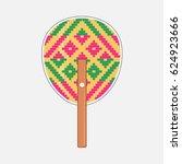 Thai Pattern Weave Fan  Vector...
