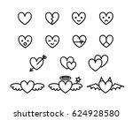 simple black and white heart...   Shutterstock .eps vector #624928580
