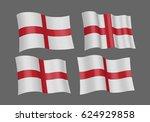 3d waving flag of england.... | Shutterstock .eps vector #624929858