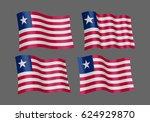 3d waving flag of liberia.... | Shutterstock .eps vector #624929870