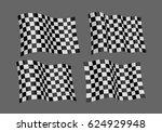 3d waving flag of finish.... | Shutterstock .eps vector #624929948