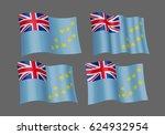 3d waving flag of tuvalu.... | Shutterstock .eps vector #624932954