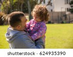 father with the baby | Shutterstock . vector #624935390