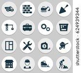 construction icons set.... | Shutterstock .eps vector #624939344