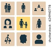human icons set. collection of... | Shutterstock .eps vector #624940778