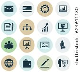 business icons set. collection... | Shutterstock .eps vector #624941180