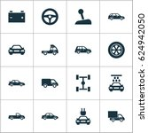 car icons set. collection of... | Shutterstock .eps vector #624942050