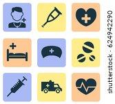 antibiotic icons set.... | Shutterstock .eps vector #624942290