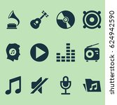 music icons set. collection of... | Shutterstock .eps vector #624942590