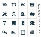 architecture icons set.... | Shutterstock .eps vector #624942674