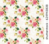 seamless floral pattern with... | Shutterstock .eps vector #624943838