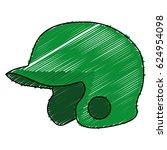 baseball helmet isolated icon | Shutterstock .eps vector #624954098