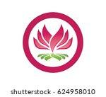 beauty lotus logo template | Shutterstock .eps vector #624958010