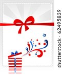 present with american ornament... | Shutterstock .eps vector #62495839