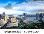 cityscape of singapore city in... | Shutterstock . vector #624959654