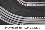 aerial top view track... | Shutterstock . vector #624962318