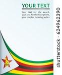 flag of zimbabwe  template for... | Shutterstock .eps vector #624962390