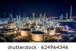 aerial view oil and gas tank... | Shutterstock . vector #624964346