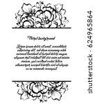 vintage delicate invitation... | Shutterstock .eps vector #624965864