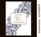 romantic invitation. wedding ... | Shutterstock . vector #624968699