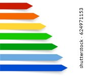 colored banners on the white... | Shutterstock .eps vector #624971153