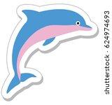 dolphin vector icon | Shutterstock .eps vector #624974693