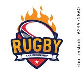 rugby championship logo ... | Shutterstock .eps vector #624975860