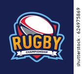rugby championship logo ... | Shutterstock .eps vector #624975869