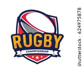 rugby championship logo ... | Shutterstock .eps vector #624975878