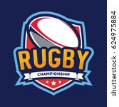 rugby championship logo ... | Shutterstock .eps vector #624975884