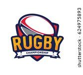 rugby championship logo ... | Shutterstock .eps vector #624975893