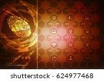 fingerprint scanning technology ...   Shutterstock . vector #624977468