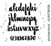 vector alphabet. calligraphic... | Shutterstock .eps vector #624978938