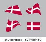 flag of denmark  national... | Shutterstock .eps vector #624985460