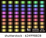 set of 60 colored gradients ... | Shutterstock .eps vector #624998828