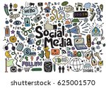 objects and symbols on the... | Shutterstock .eps vector #625001570