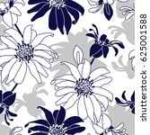 seamless pattern with blue... | Shutterstock .eps vector #625001588