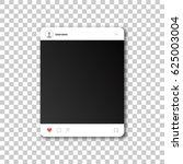 social network photo frame.... | Shutterstock .eps vector #625003004