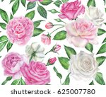 seamless floral pattern with... | Shutterstock . vector #625007780