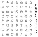 shopping vector  icon set with...