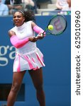 Small photo of NEW YORK - SEPTEMBER 3, 2016: Grand Slam champion Serena Williams of United States in action during her round three match at US Open 2016 at Billie Jean King National Tennis Center in New York