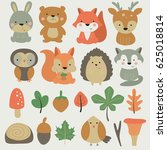 Vector Forest Set With Cute...