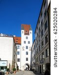 Small photo of Munich, Bavaria, Germany.- March 28, 2016. Historic castle Alter Hof, former residence of the emperor, today you can buy or taste good wine