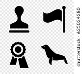 seal icons set. set of 4 seal...