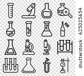 lab icons set. set of 16 lab... | Shutterstock .eps vector #625025654