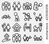 mother icons set. set of 16... | Shutterstock .eps vector #625030358