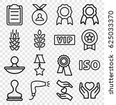quality icons set. set of 16... | Shutterstock .eps vector #625033370