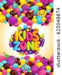 Kids Zone Vector Poster....