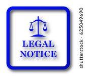 Legal Notice Icon. Legal Notic...