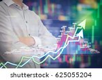 stock market digital graph...   Shutterstock . vector #625055204